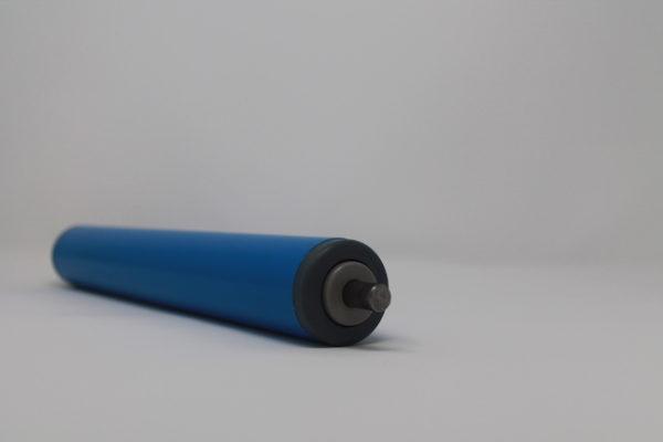 Tragrolle aus Kunststoff mit Federachse, rostfrei 40mmx2,3mm